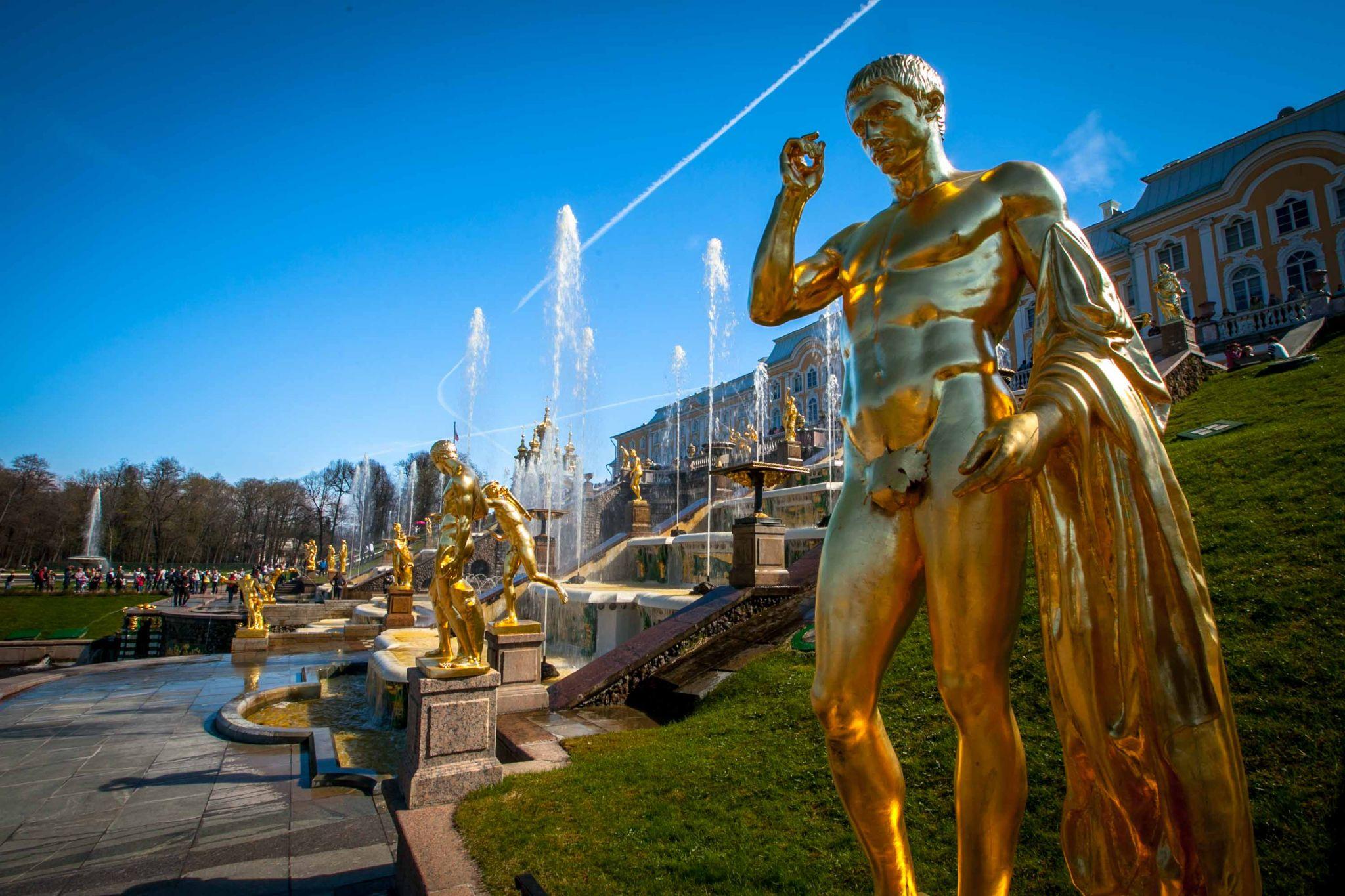Peterhof Palace St Petersburg_, Russian Federation