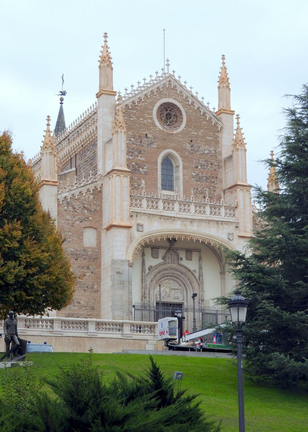 San Jerónimo from entry to Museo Nacional del Prado, Spain