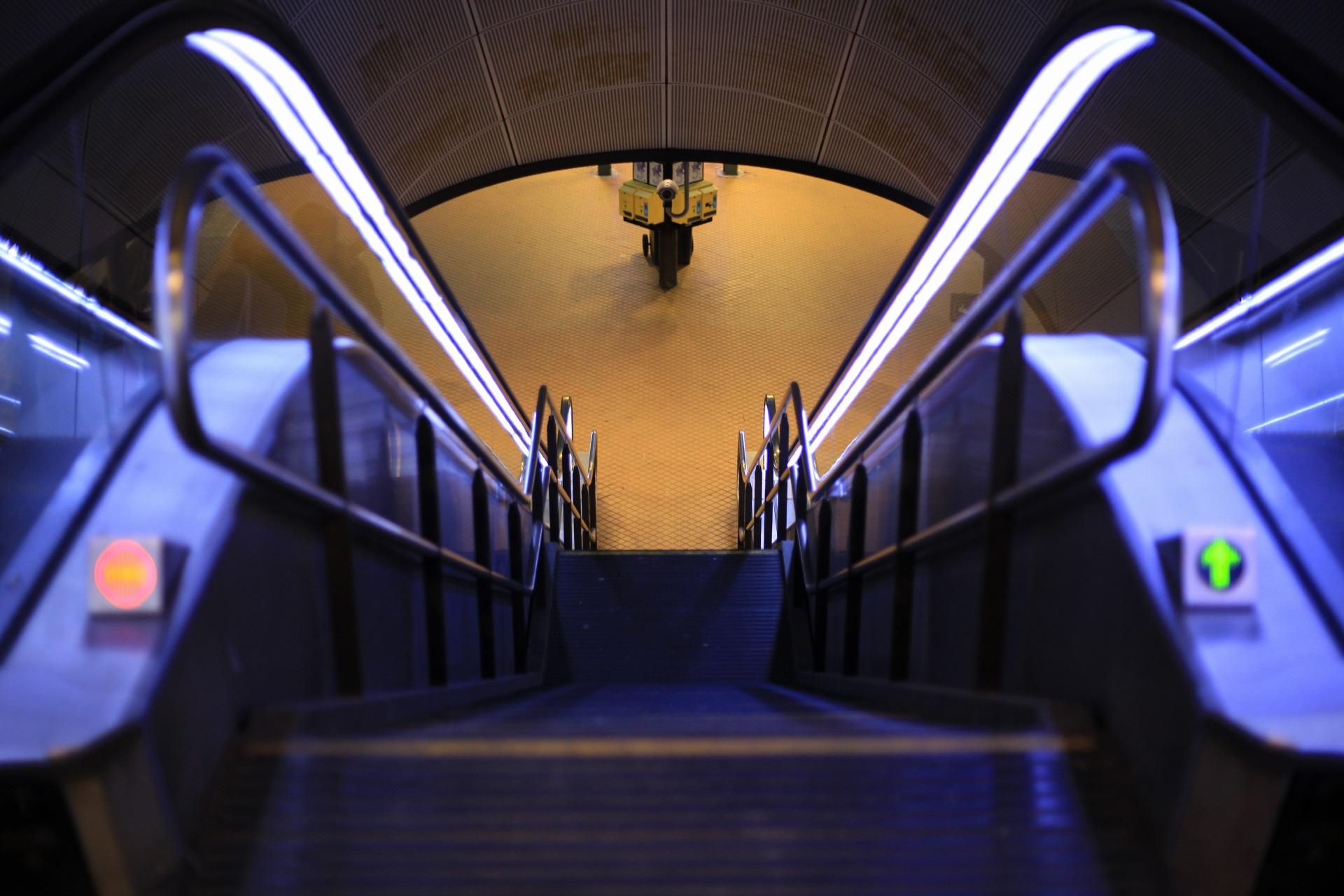 Steps and Escalator, Kopenhagen Central Station, Denmark