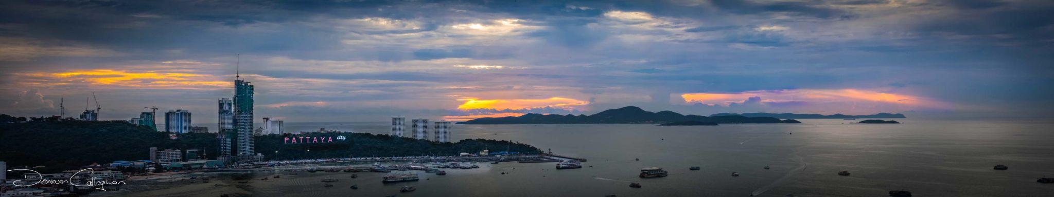 Sunrise Pattaya paorama, Thailand