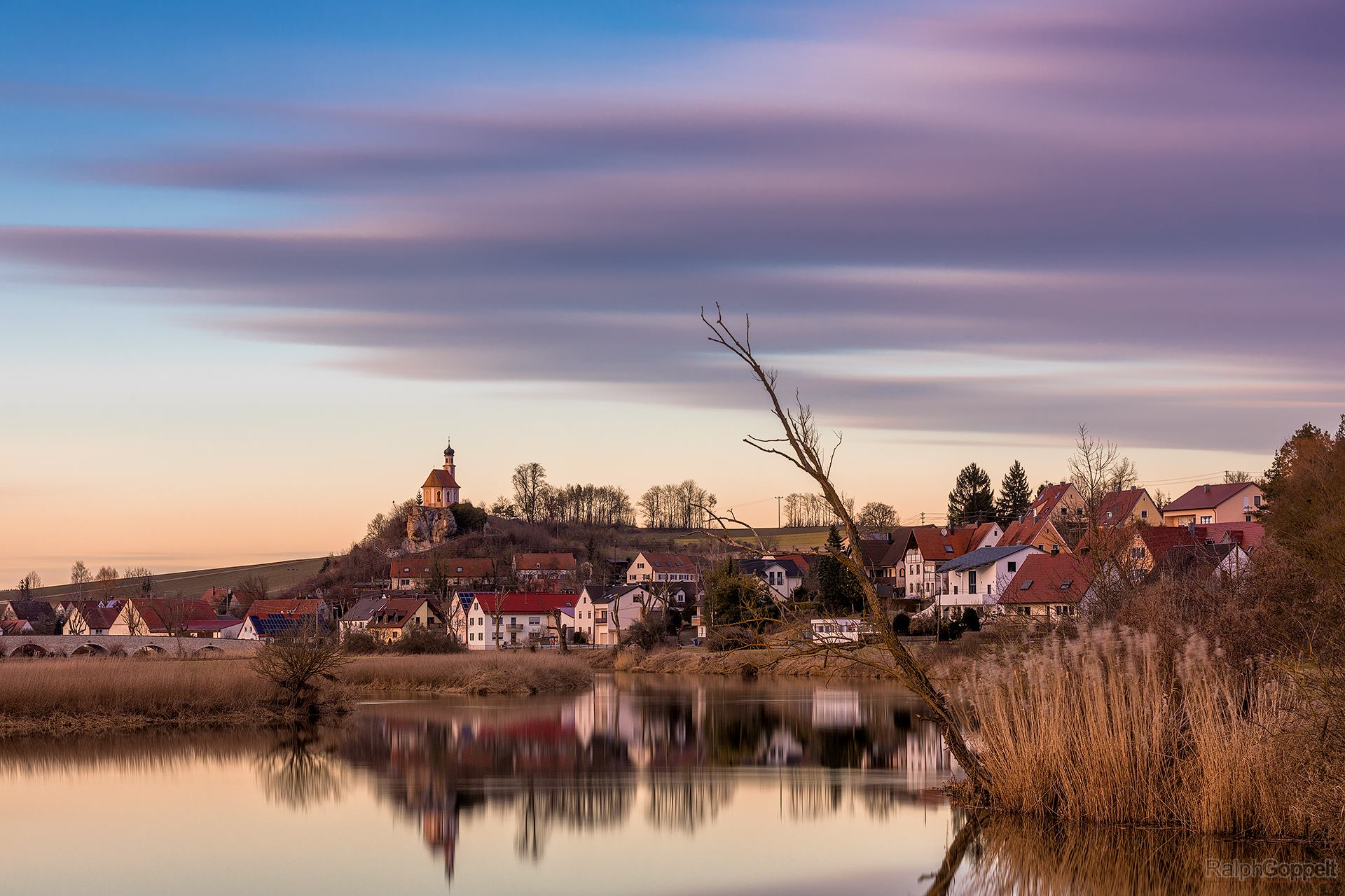 Sunset at Woernitzstein, Germany
