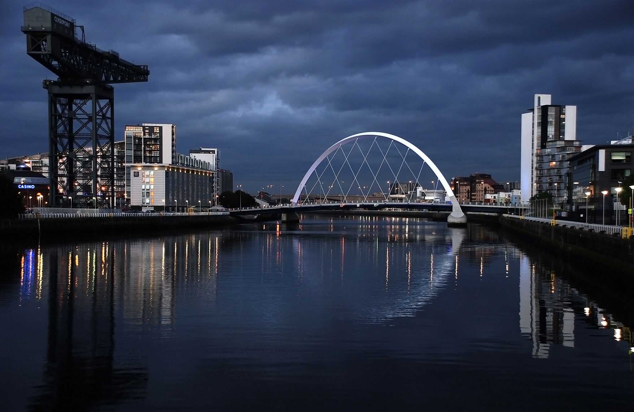 The Clyde Arc,Glasgow, Scotland, United Kingdom