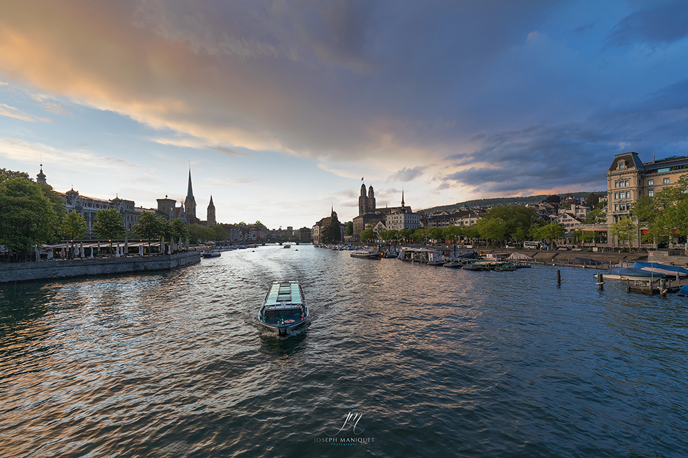 View from Quaibrücke, Zürich, Switzerland