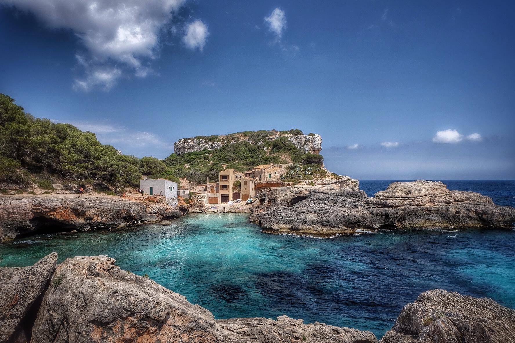 Bay at Cala s Almunia, Santanyi, Mallorca, Spain