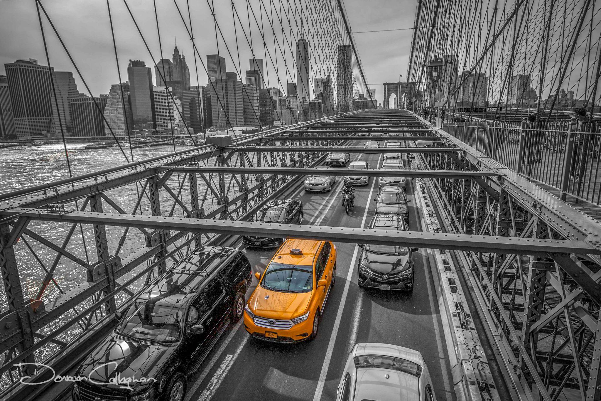 Brooklyn Bridge Yellow Taxi, USA
