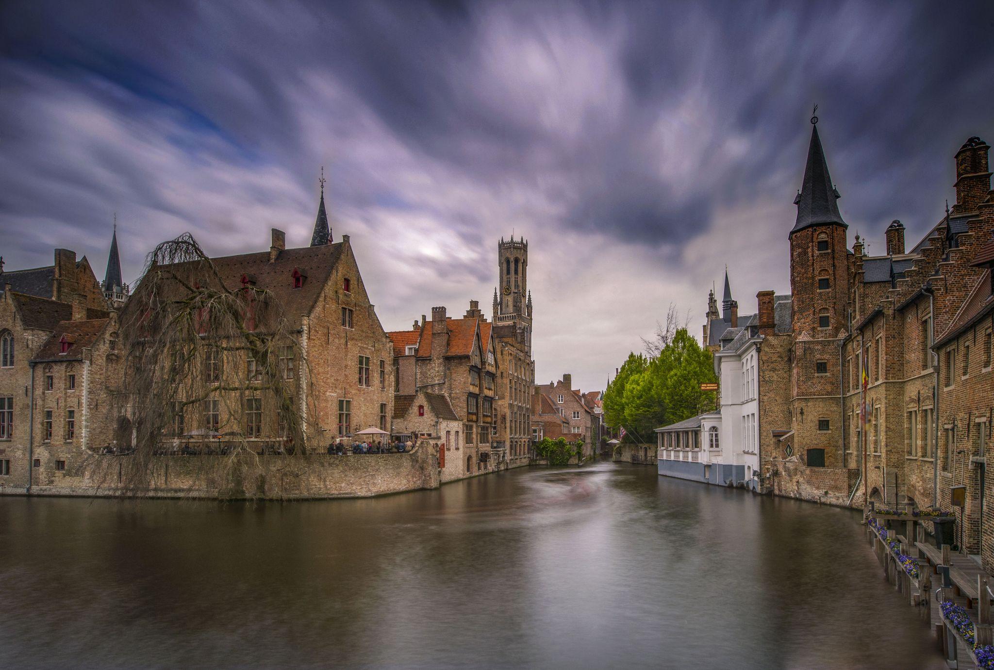 Classic Bruges view, Belgium