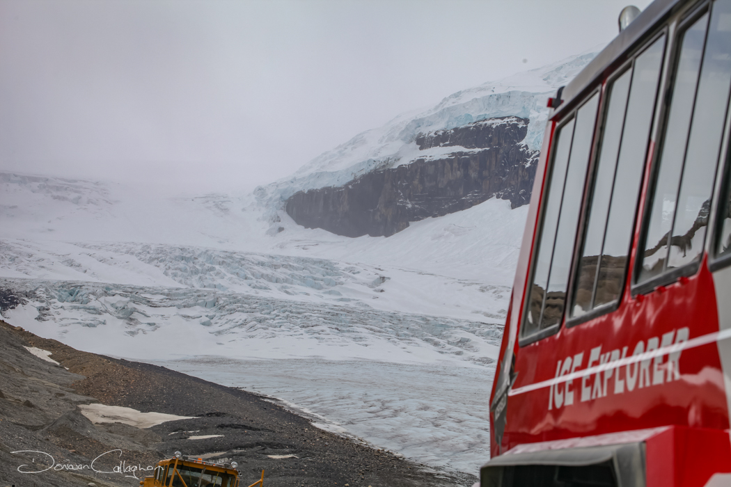 Columbia Icefield view from the bottom, Canada