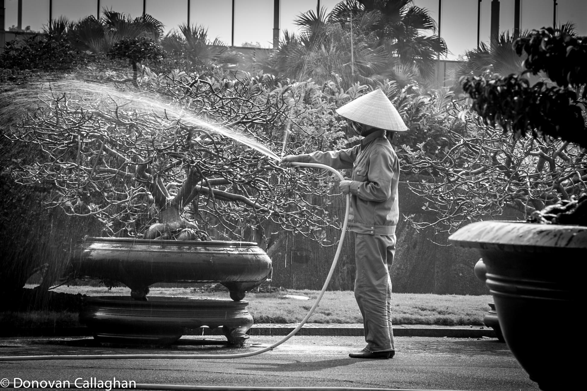 Gardner the Ho Chi Minh Mausoleum gardens, Vietnam