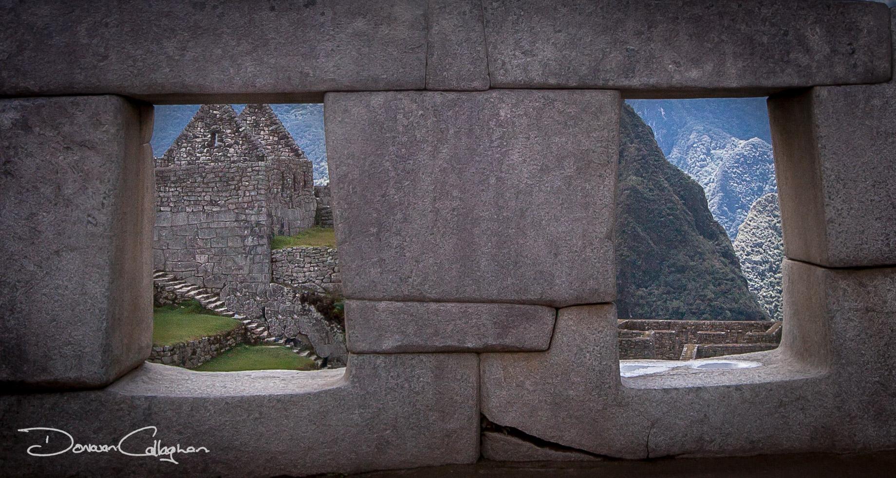Machu Picchu stone work, Peru
