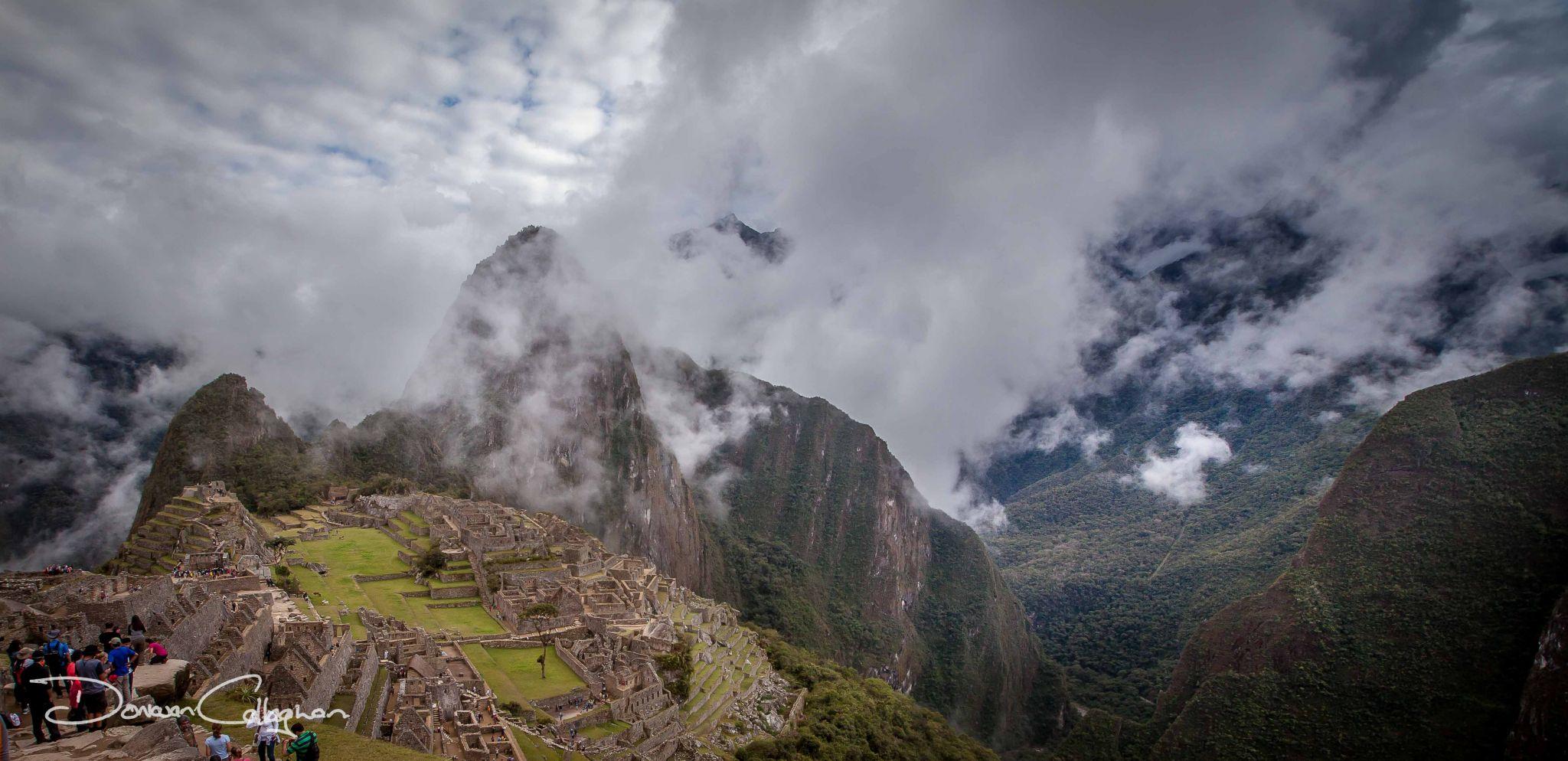 Machu Picchu with cloud, Peru