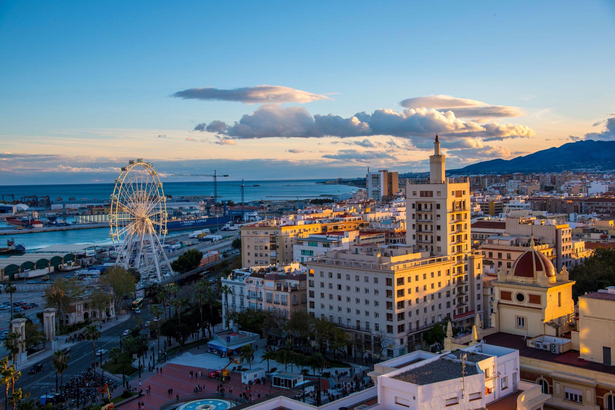 Malaga Spain Sunset, Spain