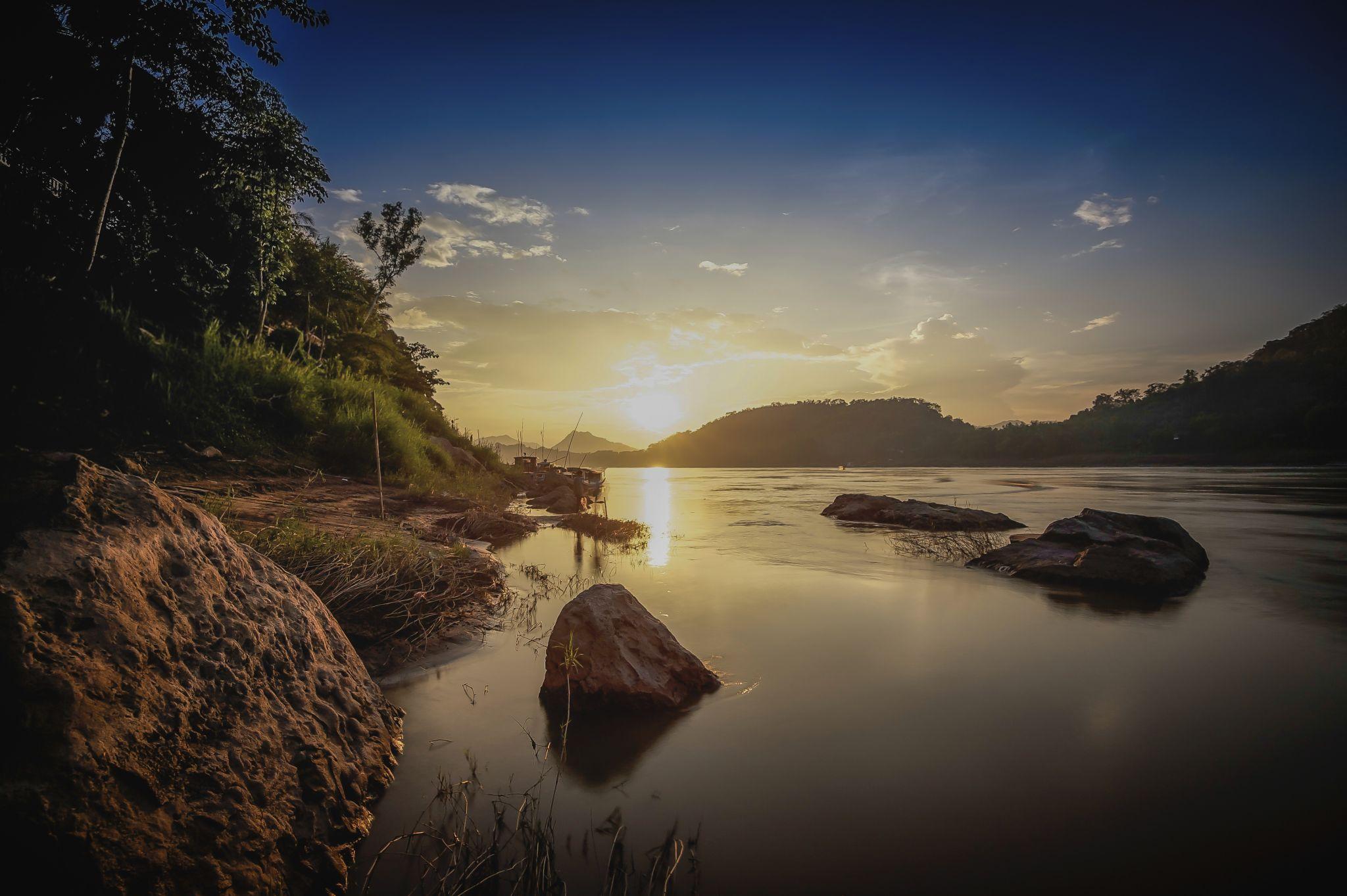 Mekong in Luangprabang, Laos, Asia, Lao