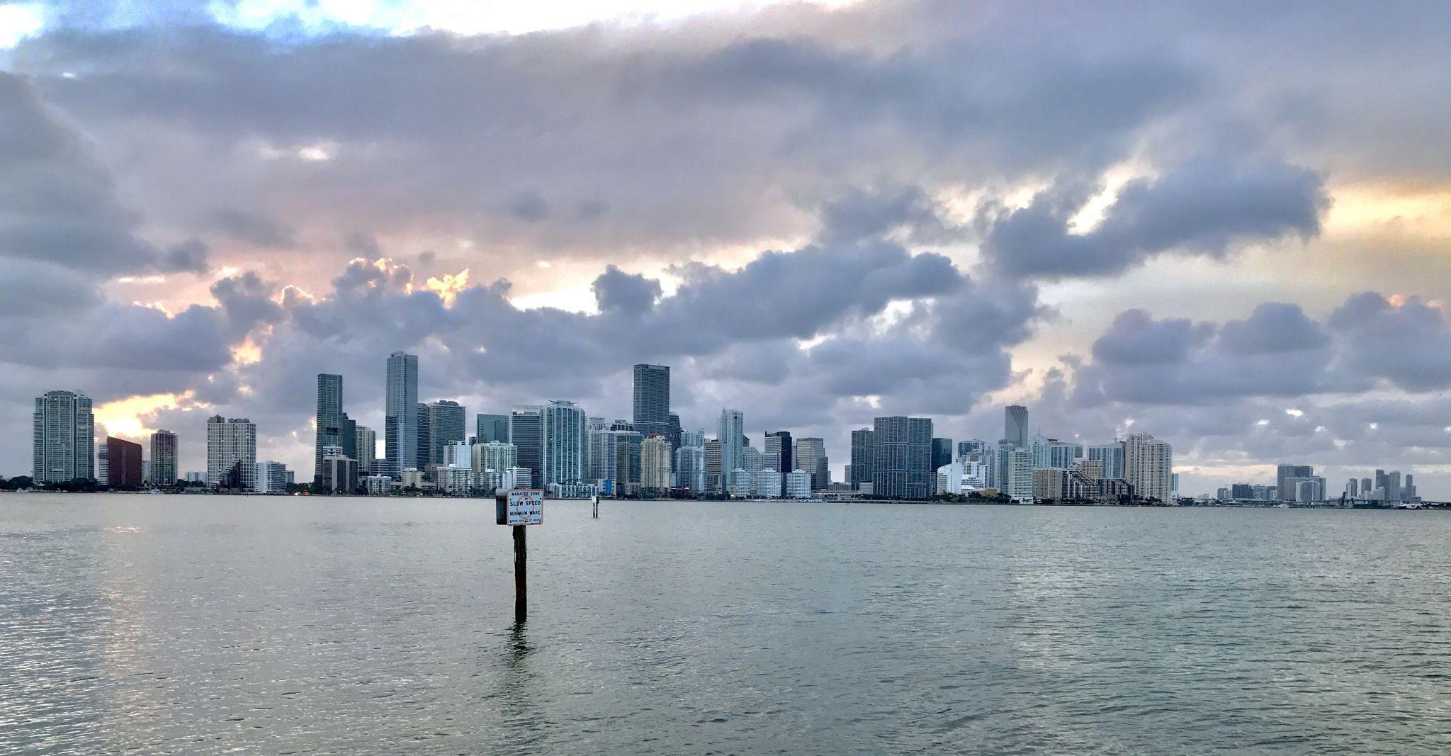 Miami Skyline Sunset, USA