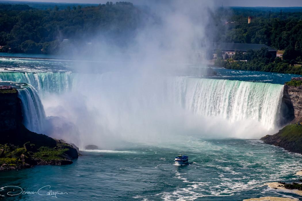 Niagara Falls with tourist boat, Canada