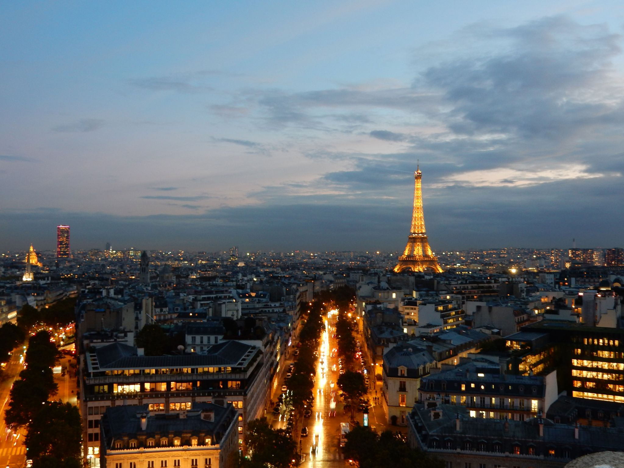 On Top of Arc de Triomphe, France