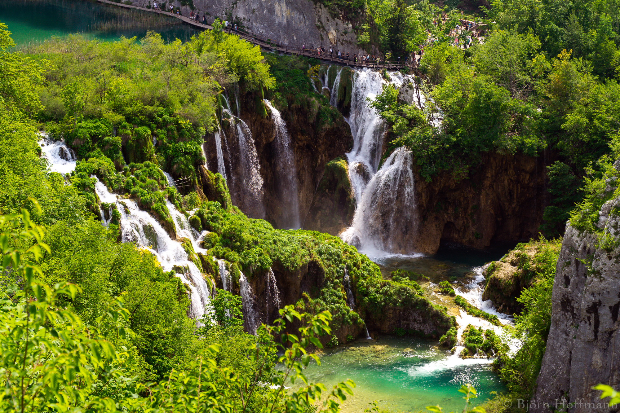 Plitvice National Park, Lower Lakes Waterfall Overview, Croatia