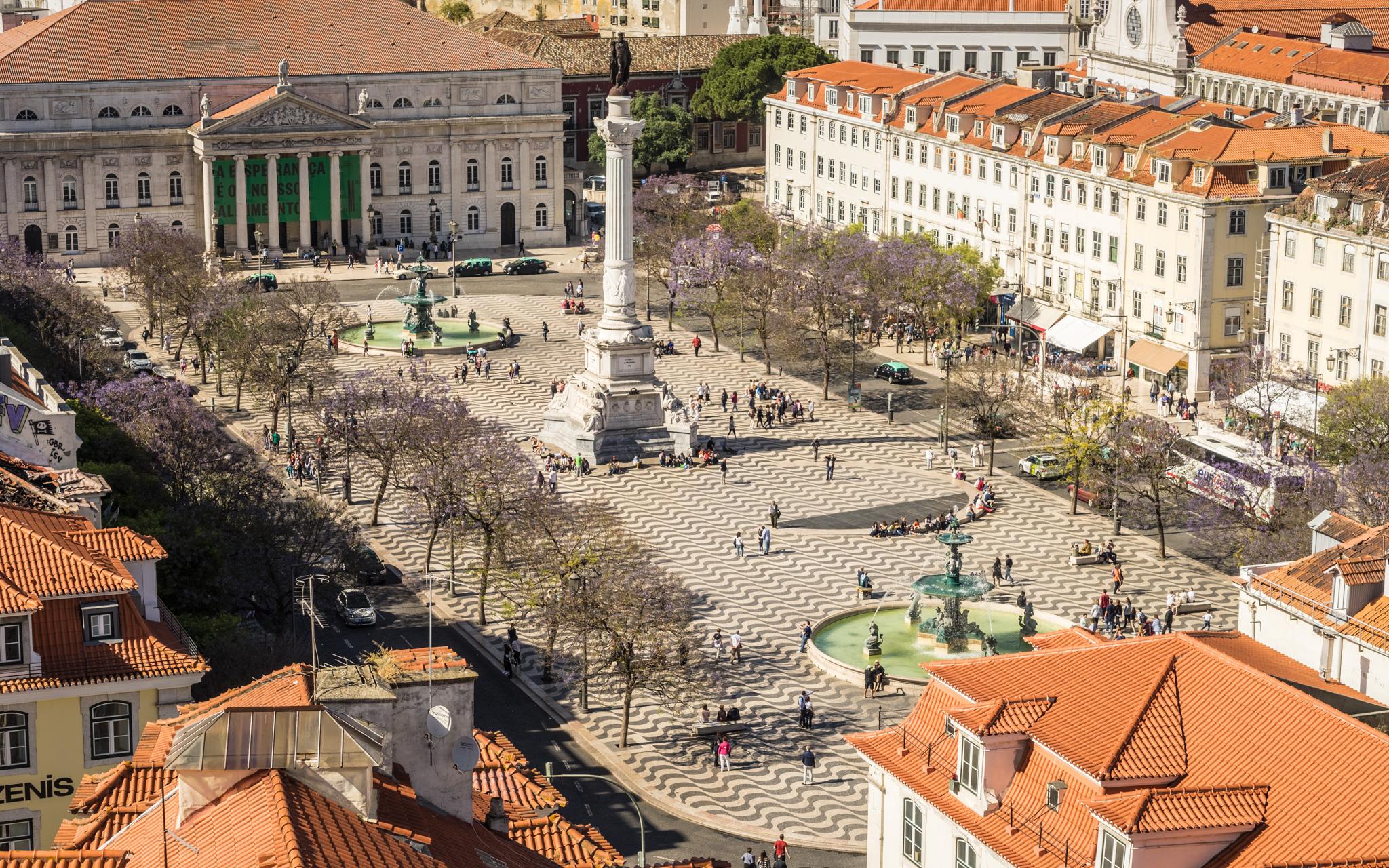 Praça Rossio - Rossio Square, Portugal