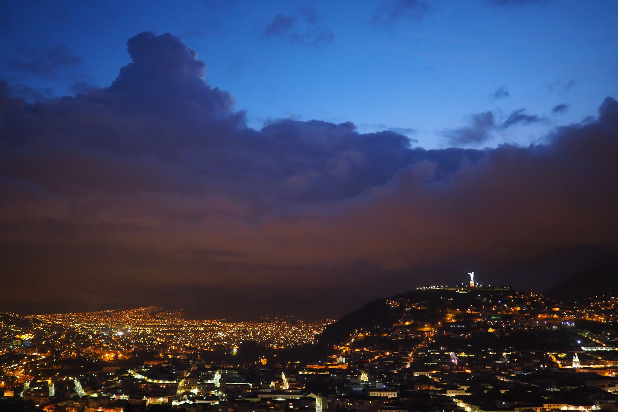 Quito, the Panecillo and the Lady of Quito, Ecuador