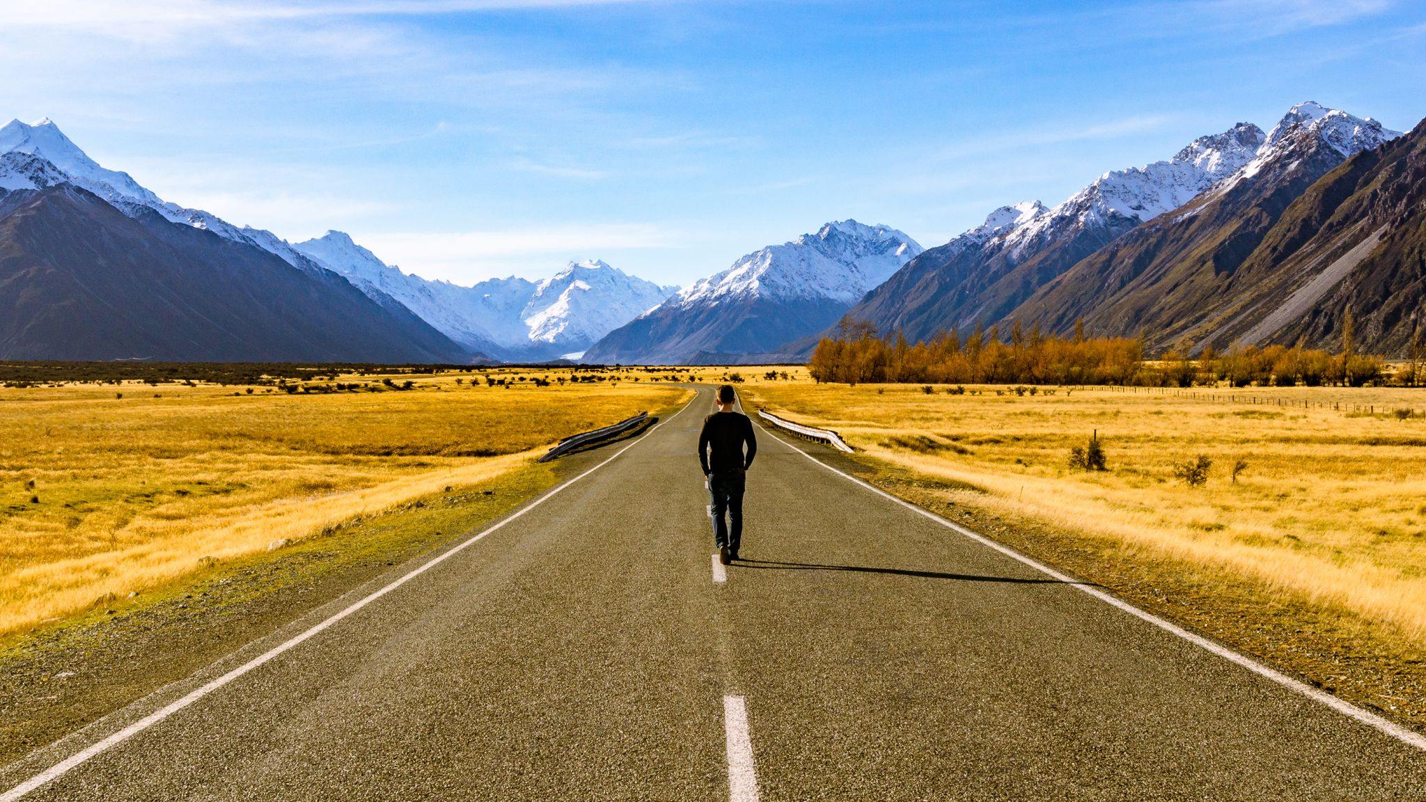 Road to Aoraki / Mount Cook, New Zealand