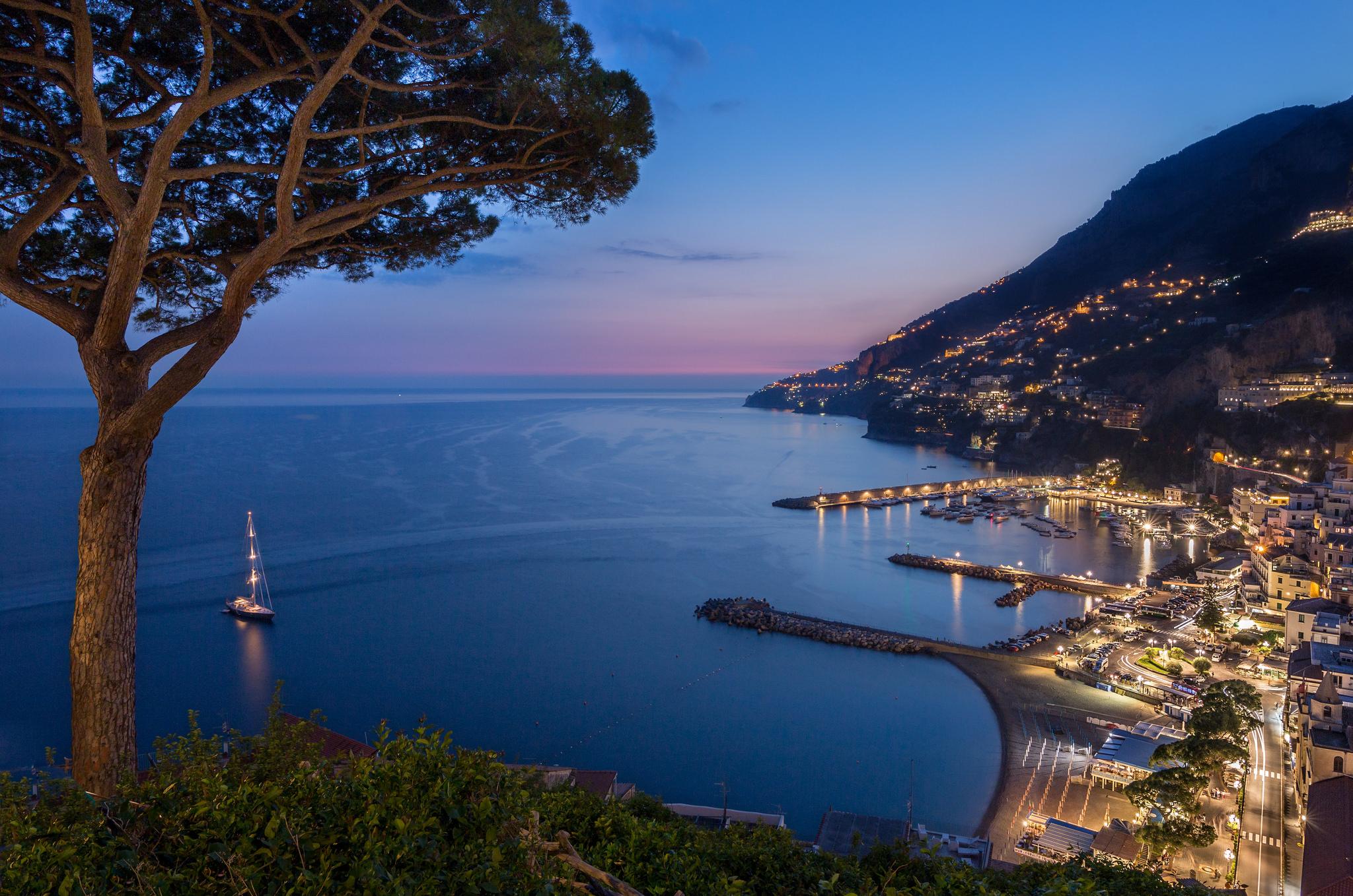 Salita Capo di Croce, overlooking the town of Amalfi, Italy