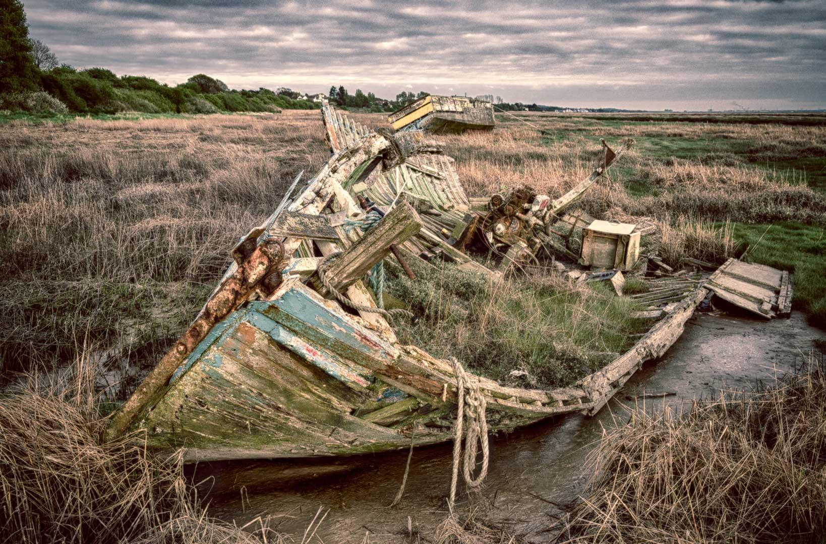 Secret Boat Graveyard, United Kingdom