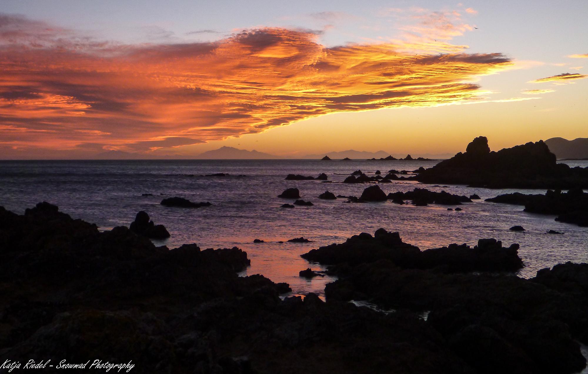 Sunset at Princess Bay, Wellington, New Zealand