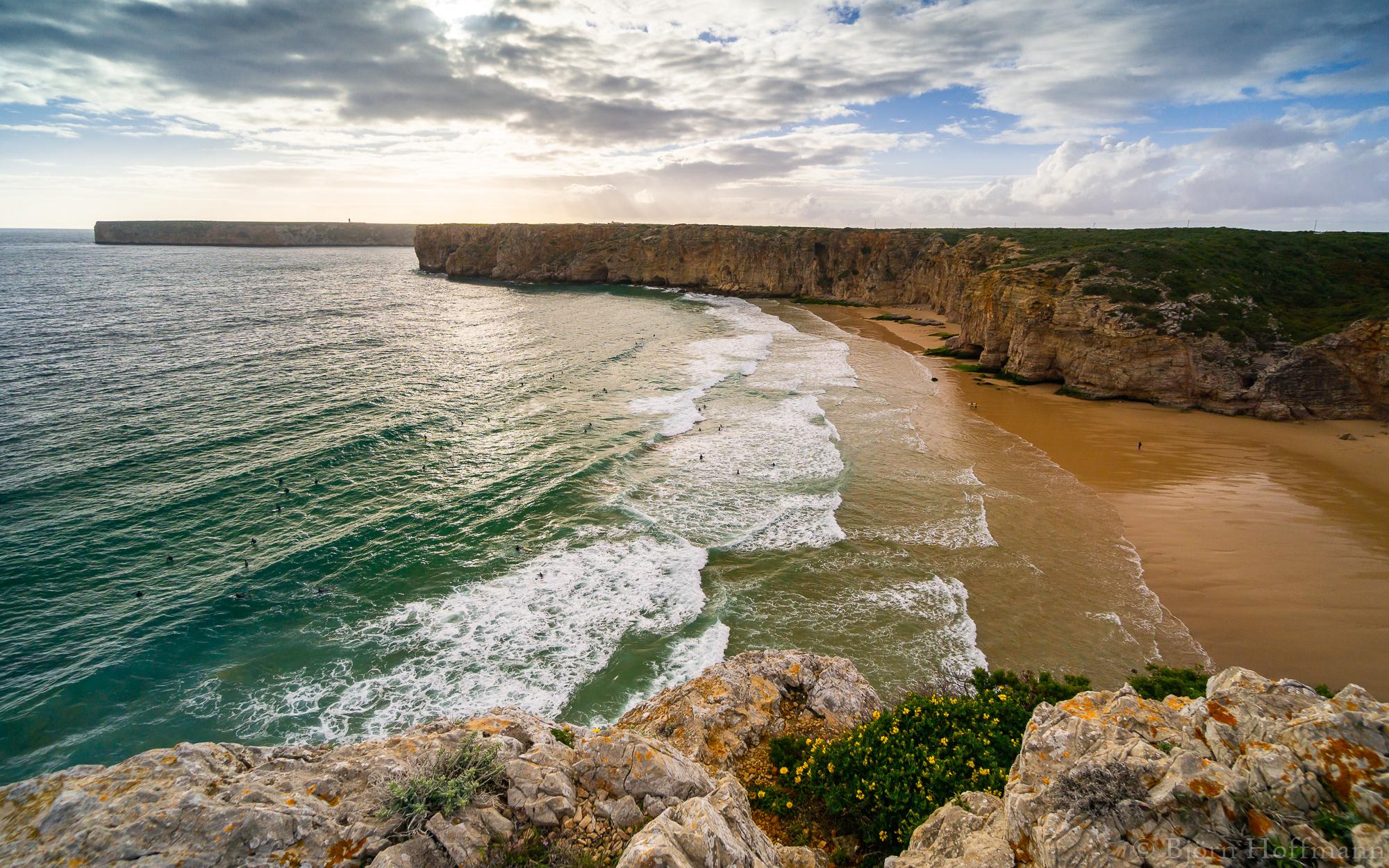 Surfer Beach Praia do Beliche, Algarve, Portugal
