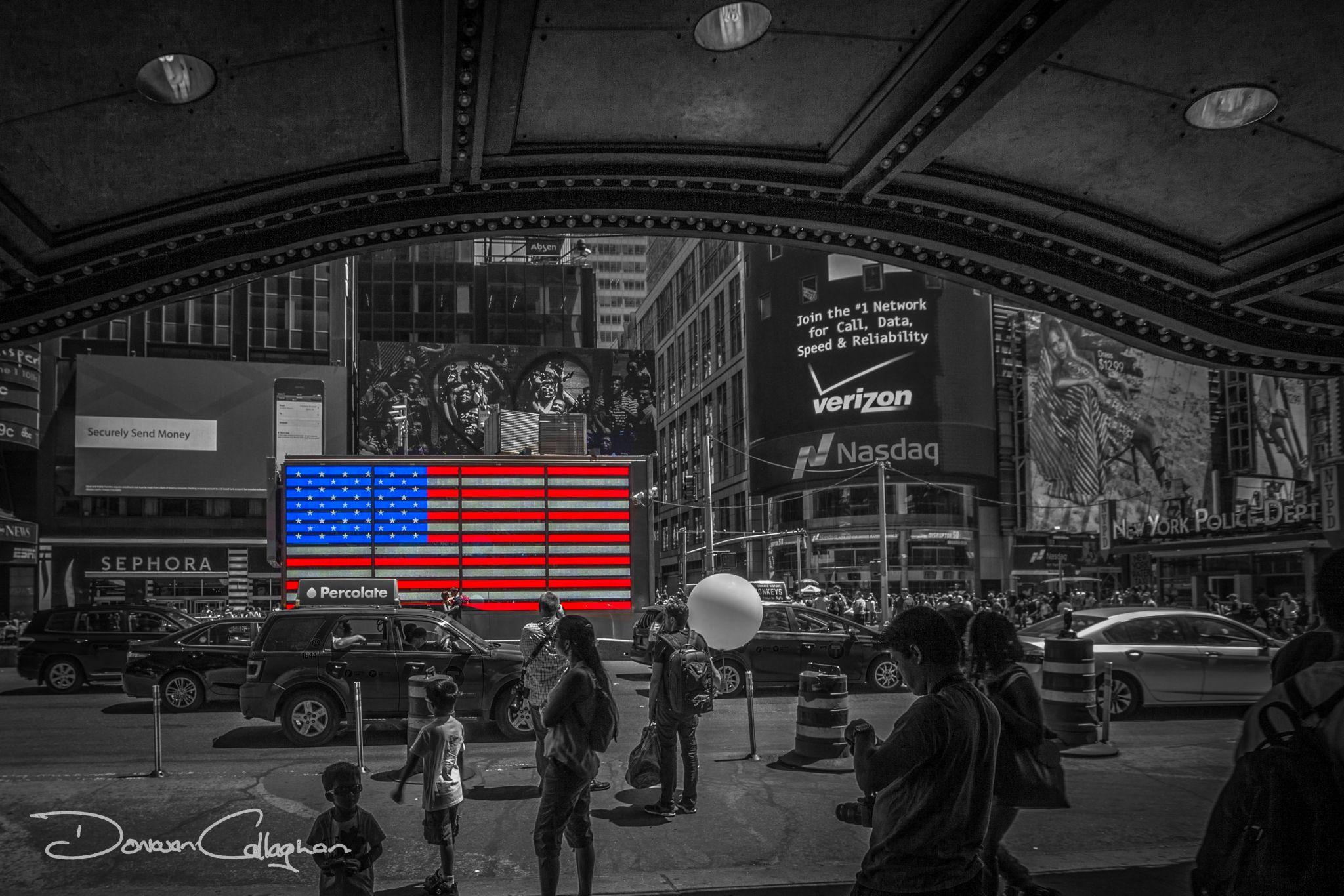 Times Square flag, USA