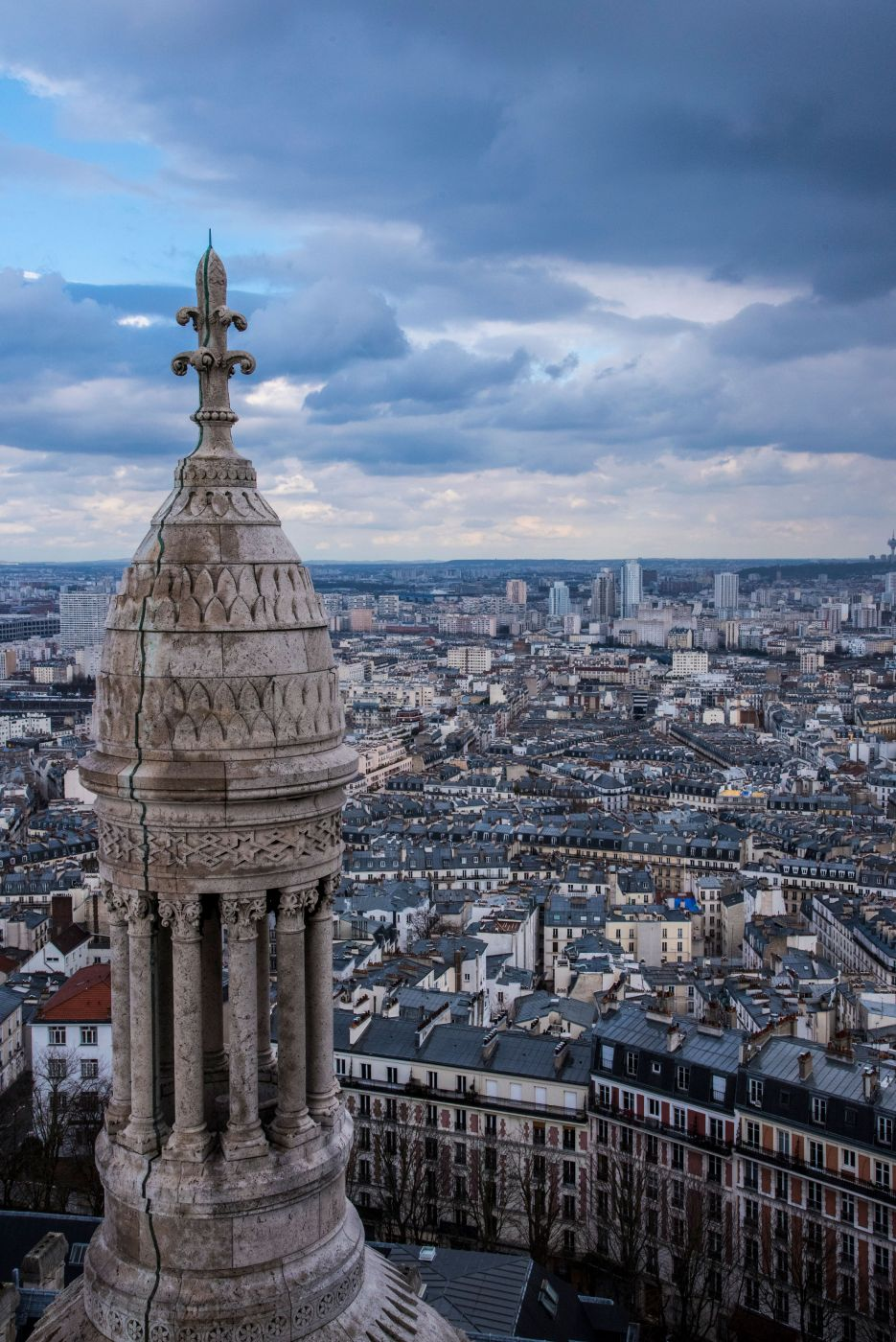 Tower View from Sacre Coeur Cathedral, France