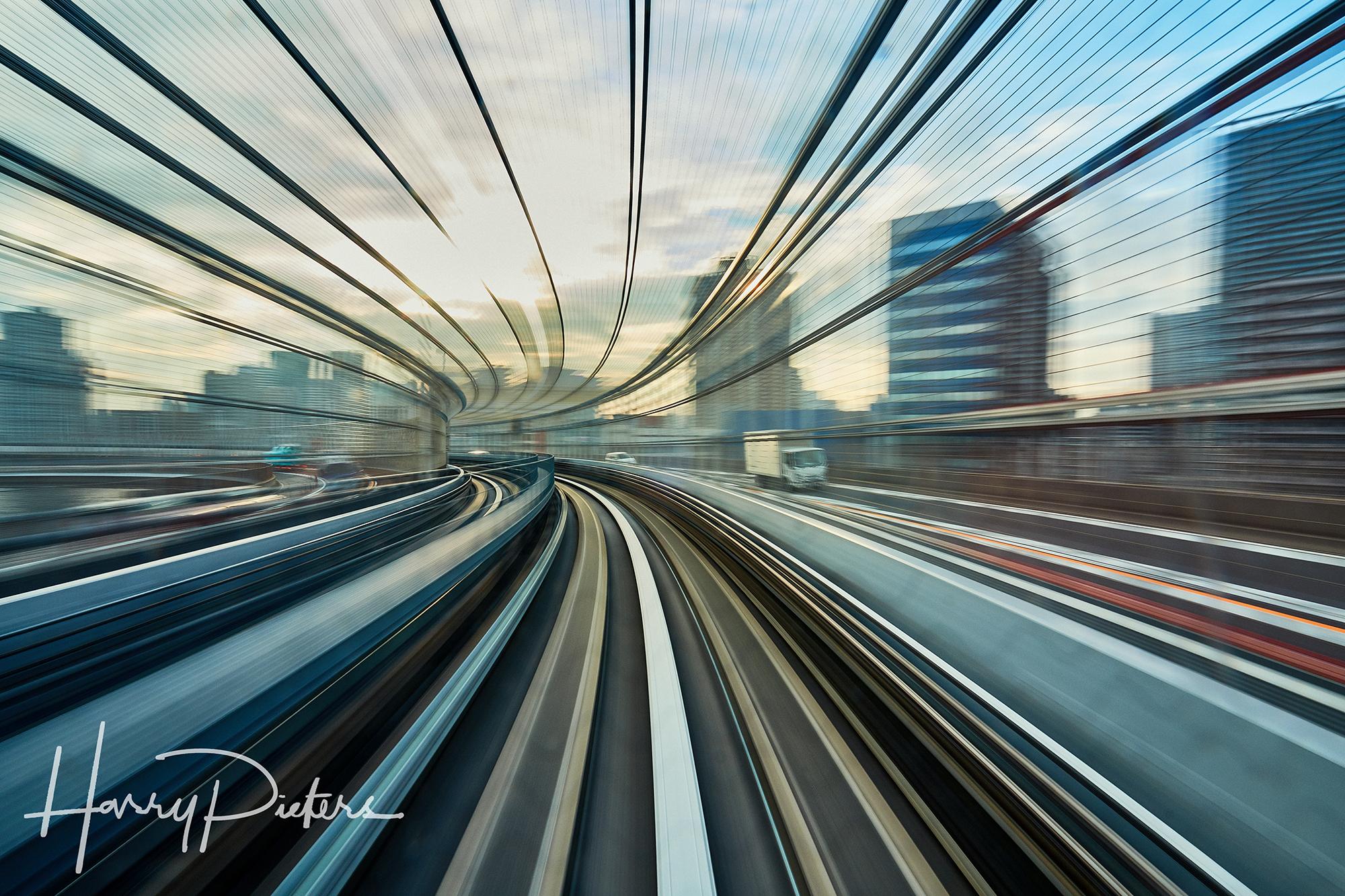 Metro Tunnel at Rainbow Bridge, Tokio, Japan