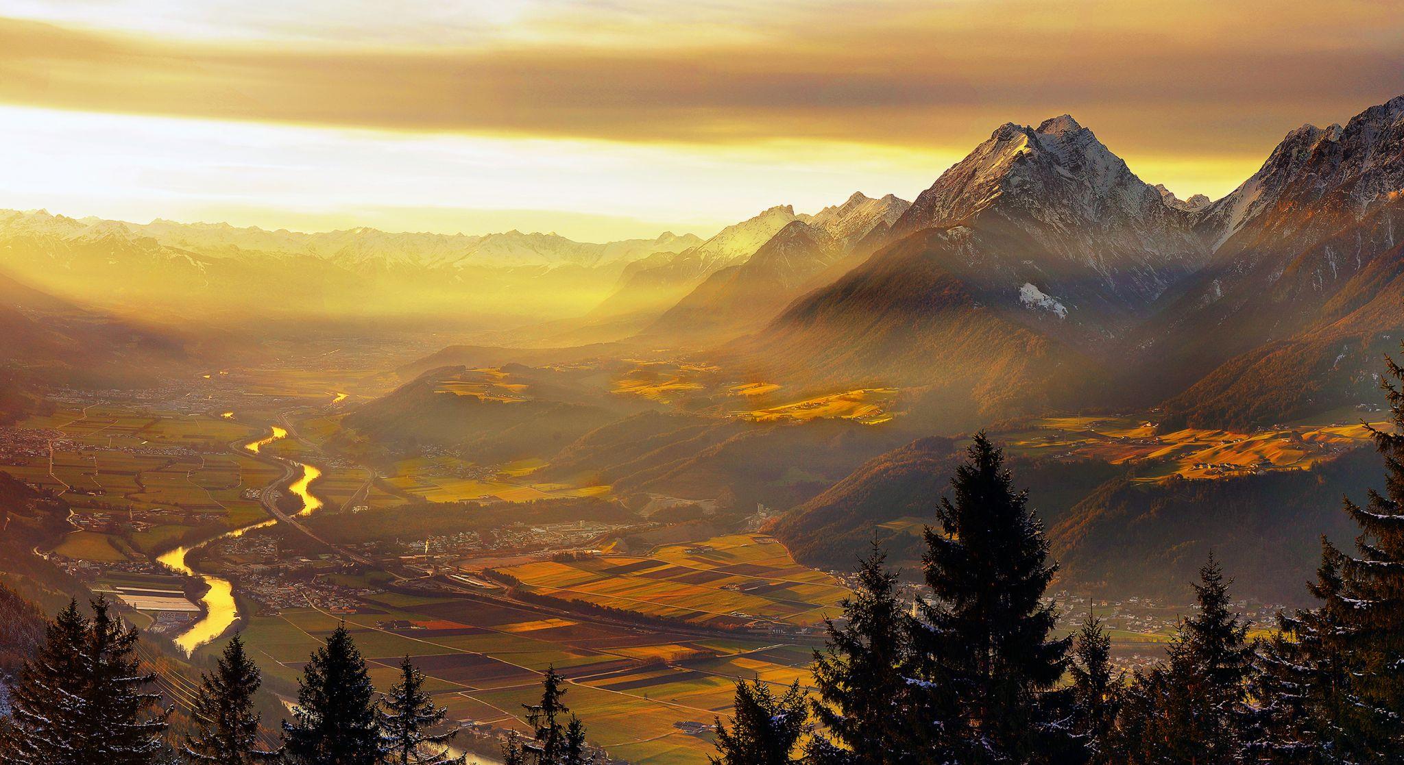 View to the Inn Valley, Austria