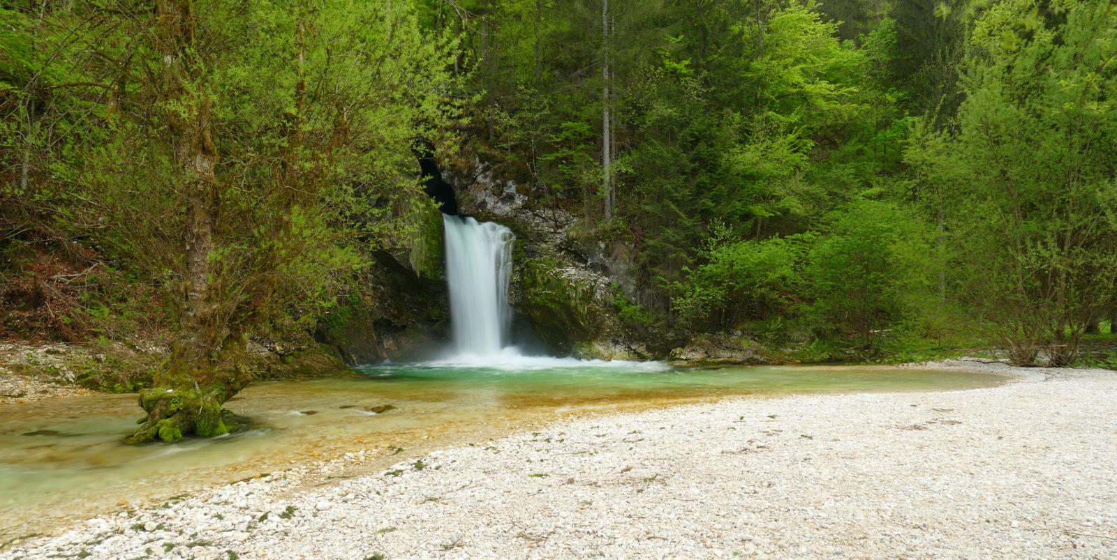 Waterfall Grmečica, Slovenia