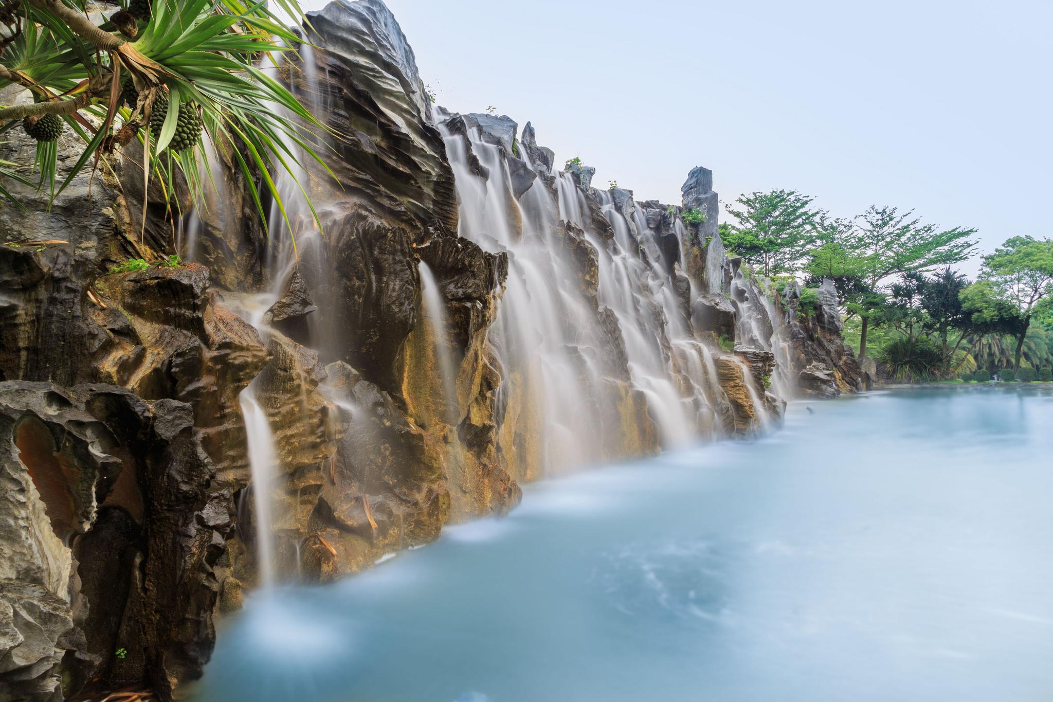 Waterfall at Parkview hotel, Taiwan
