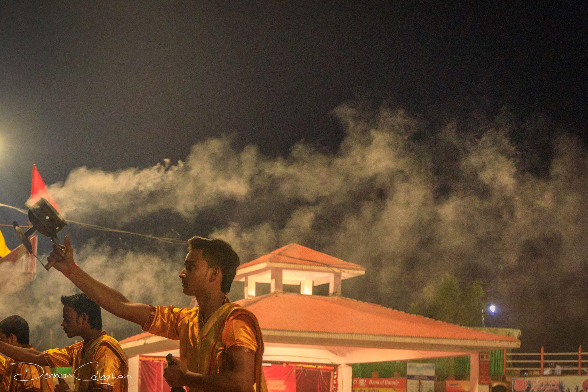 Aarti Hindu Religious Ritual Ganges, India