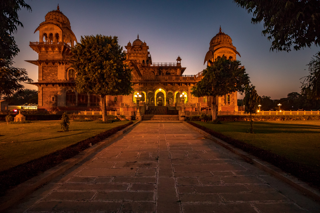Albert Hall Museum at Night Jaipur, India