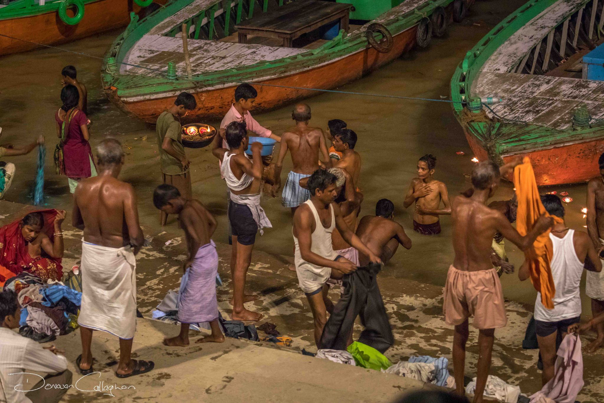 Bathing on the Ganges India, India