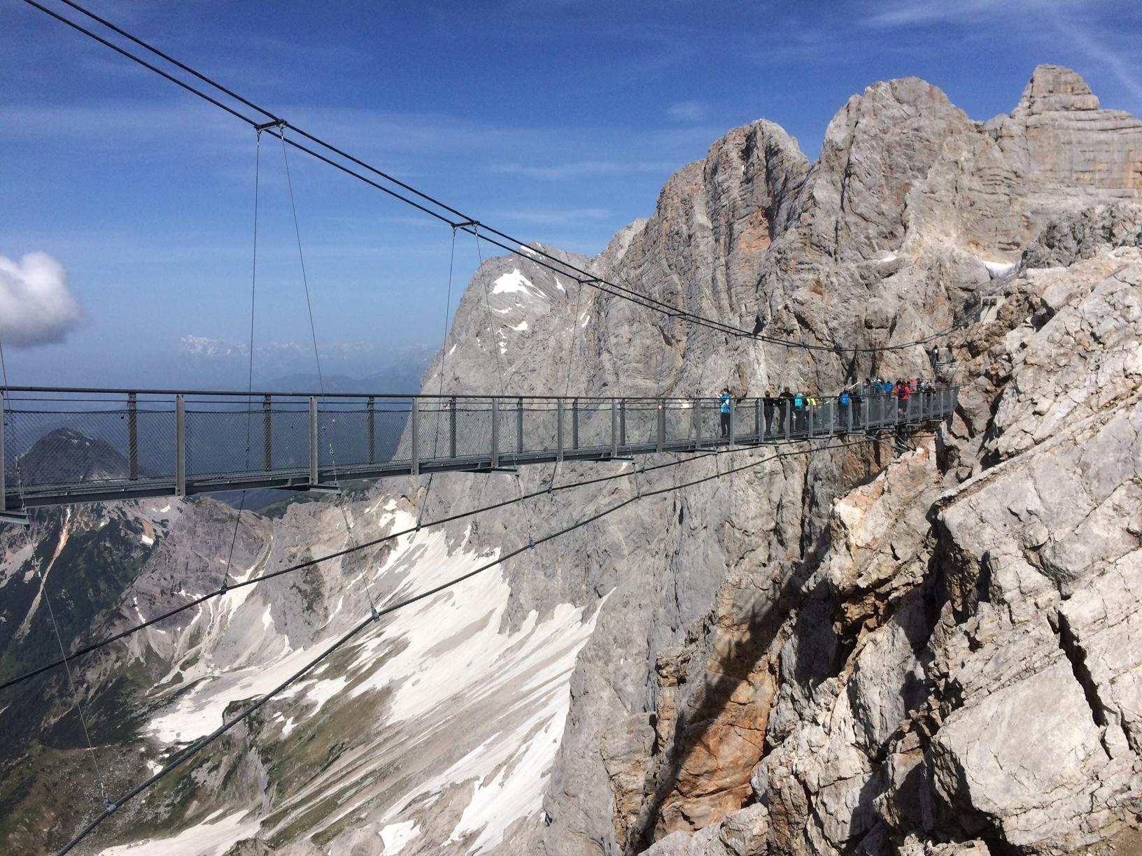 Bridge on the Dachstein Glacier, Austria