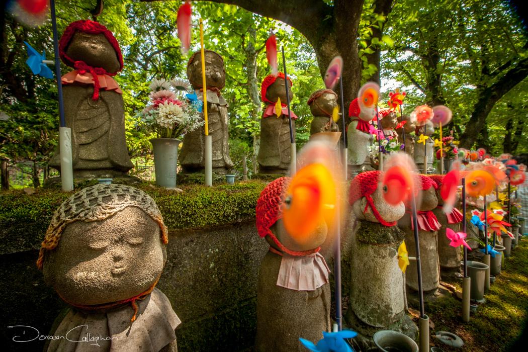 Child statues Zojo-ji Temple Cemetery  Tokyo, Japan