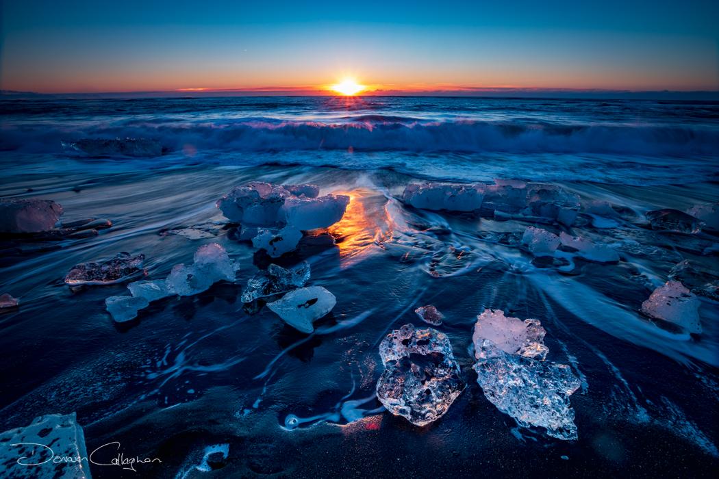 Diamond Beach Sunrise (Jokulsarlon Beach) Iceland, Iceland