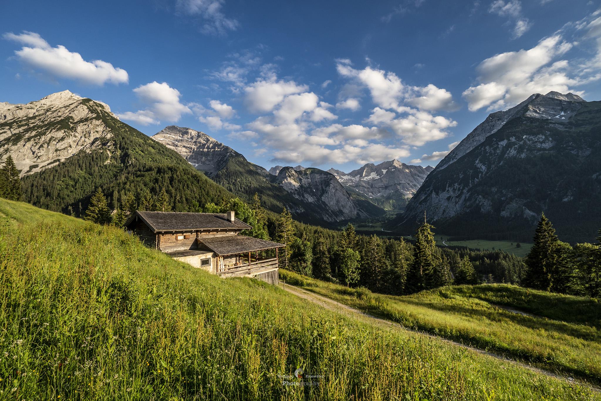 Eng view to the Karwendel, Austria