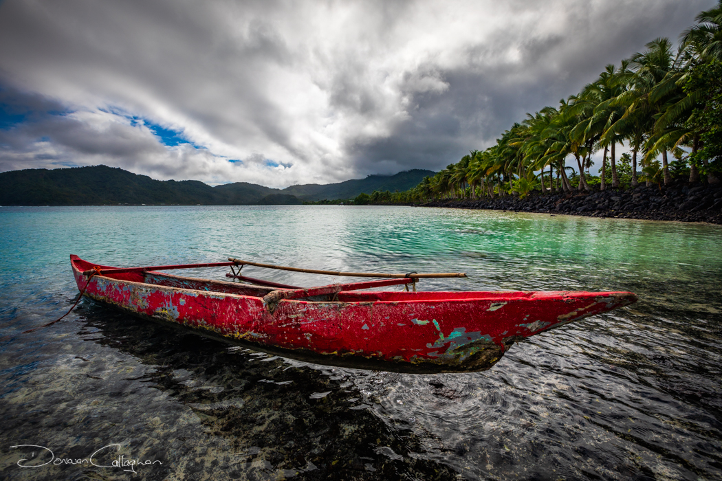 Fishing Boat on the Coast, Samoa