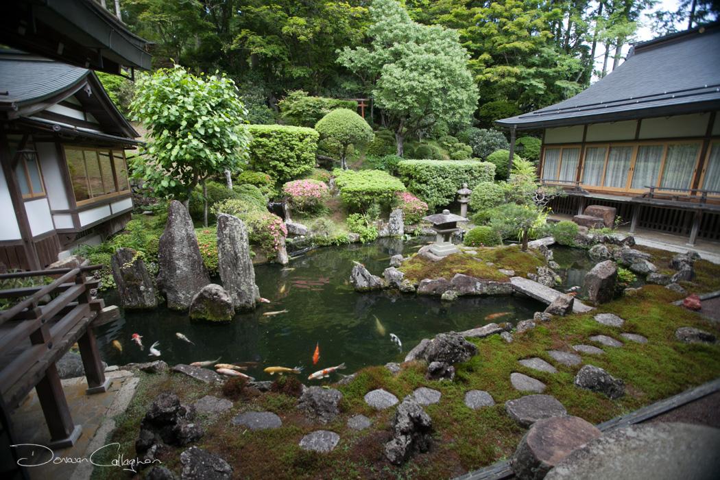 Ichijoin Temple lodging Garden Koyasan, Japan