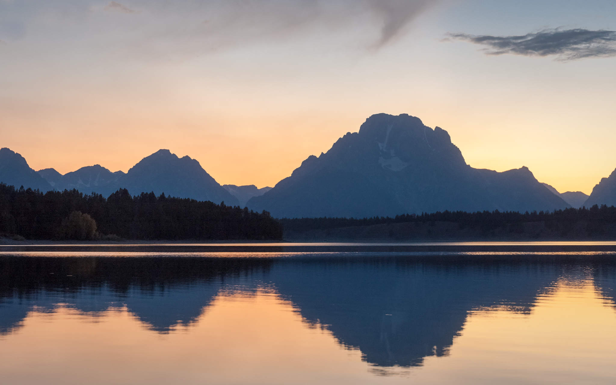Jenny Lake and Mount Moran, USA