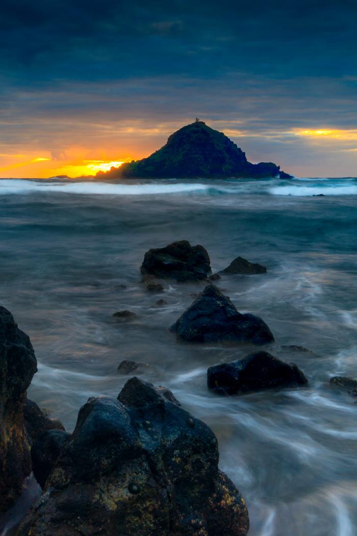 Koki Beach Park at Sunrise Hana Maui Hawaii, USA