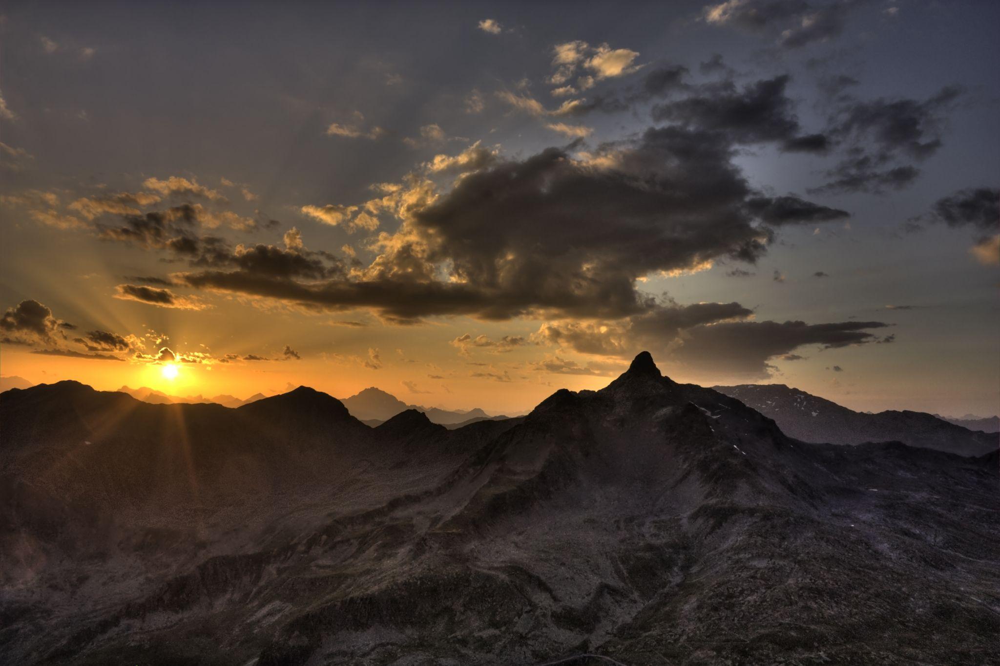 Landscape from mount Gaviola, Italy