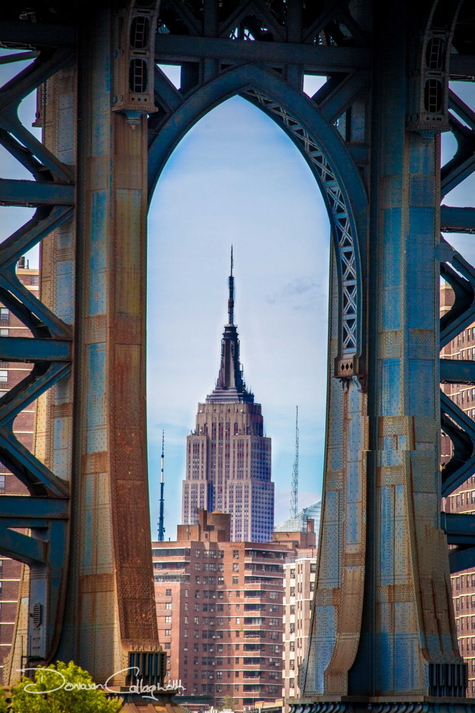 Manhattan bridge & Empire State building New York, USA