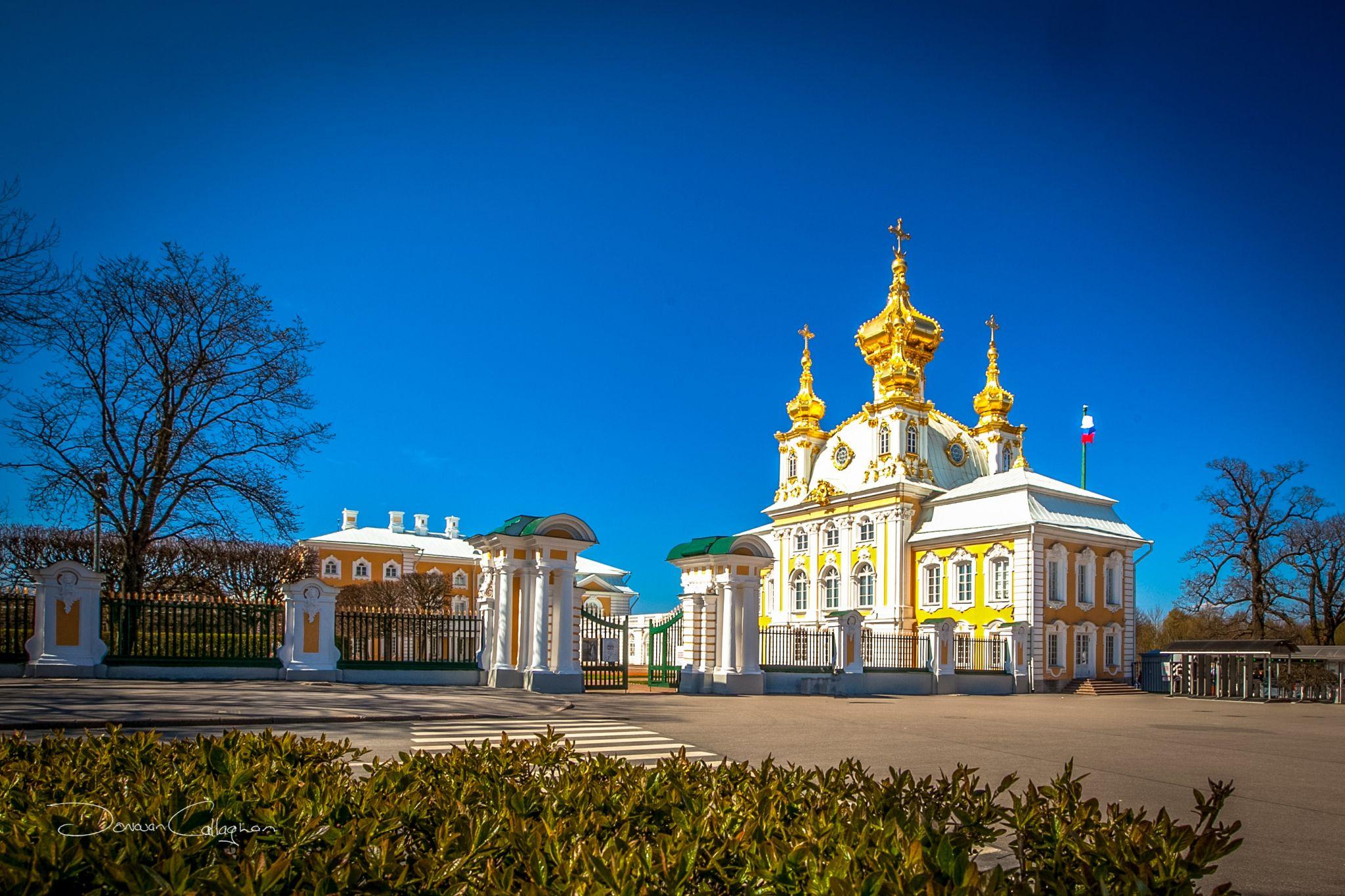 Palace Church Palace of Peterhof, St Petersburg, Russian Federation