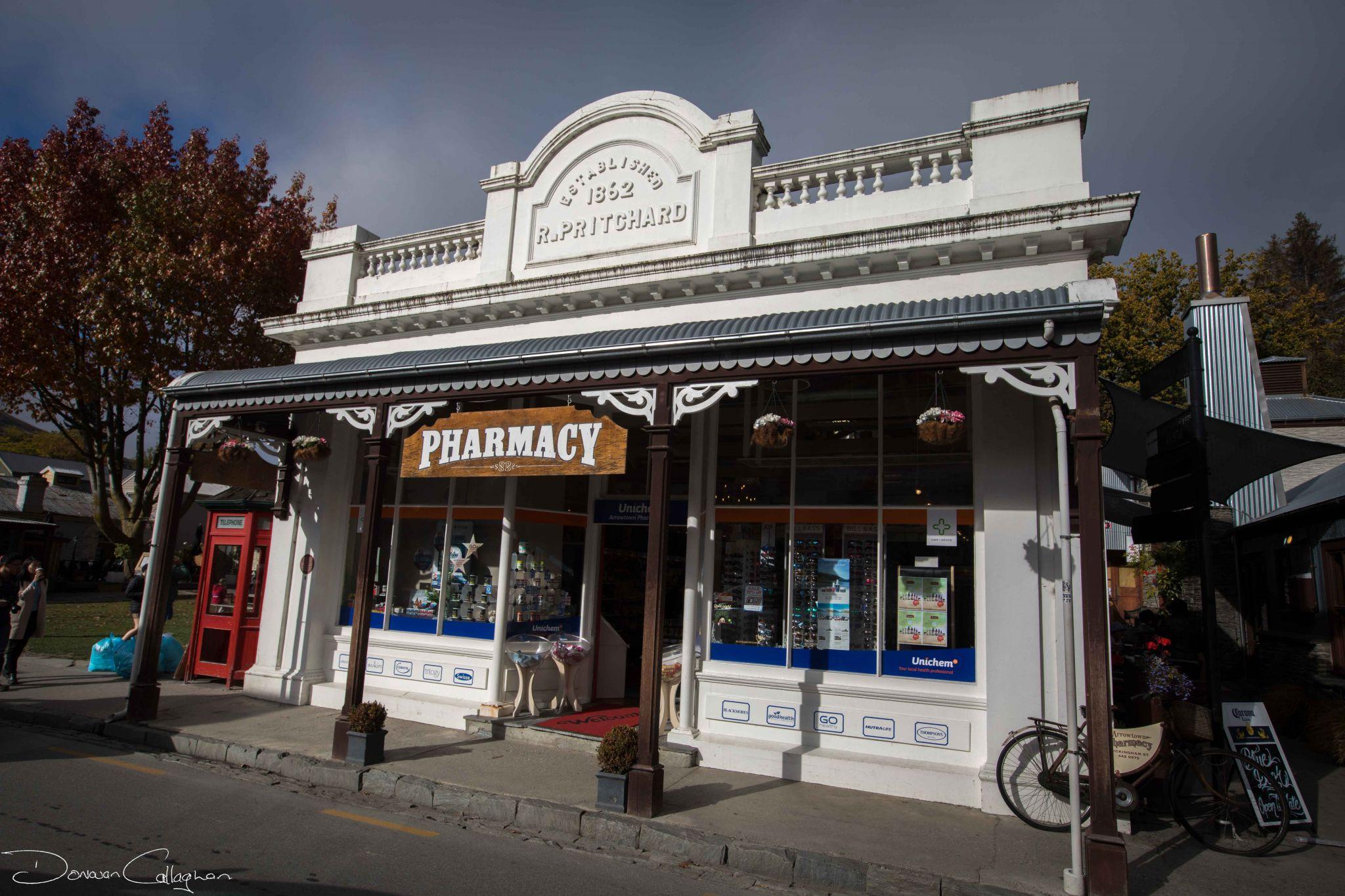 Pharmacy Store Arrowtown, New Zealand