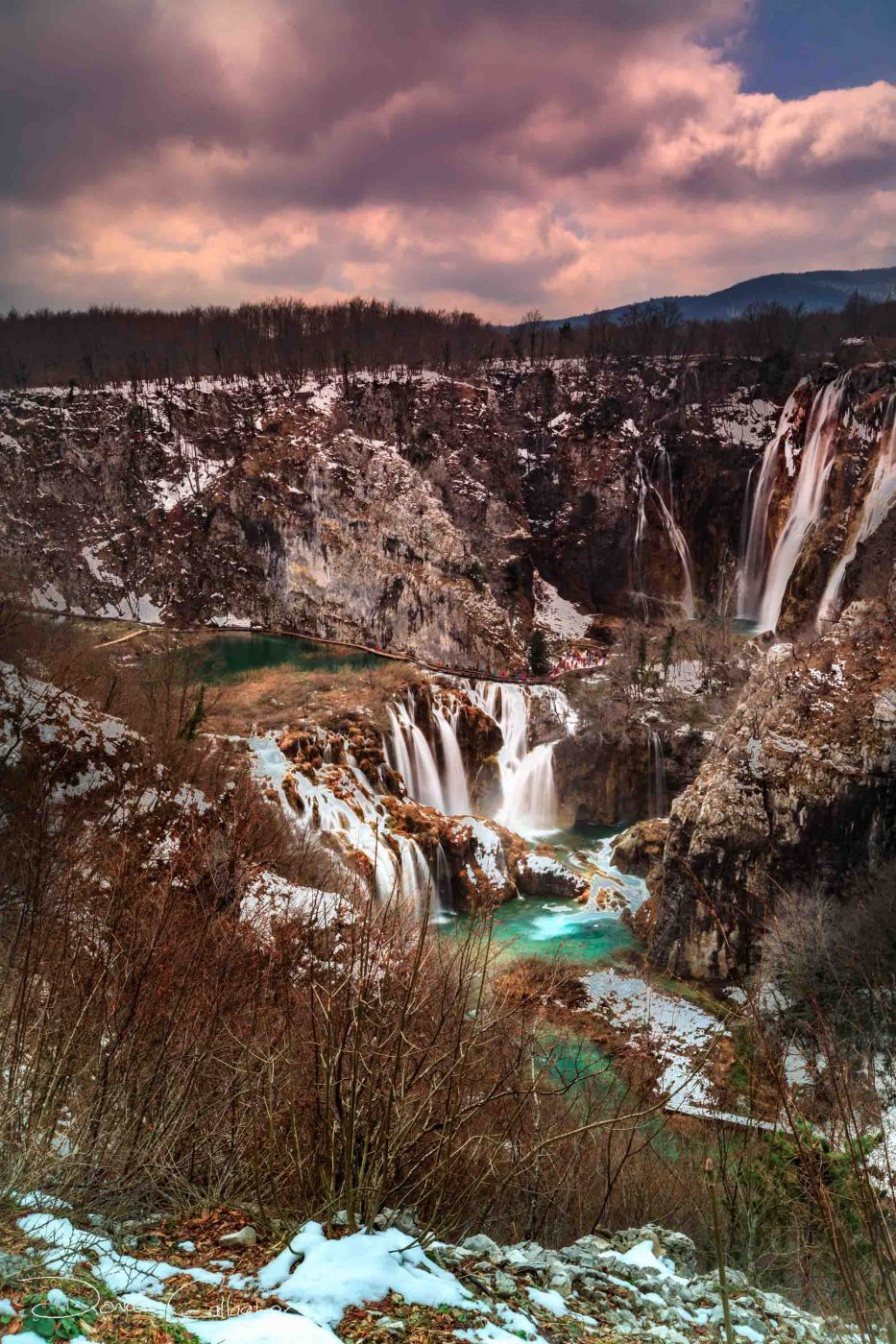 Plitvice Lakes from the top, Croatia