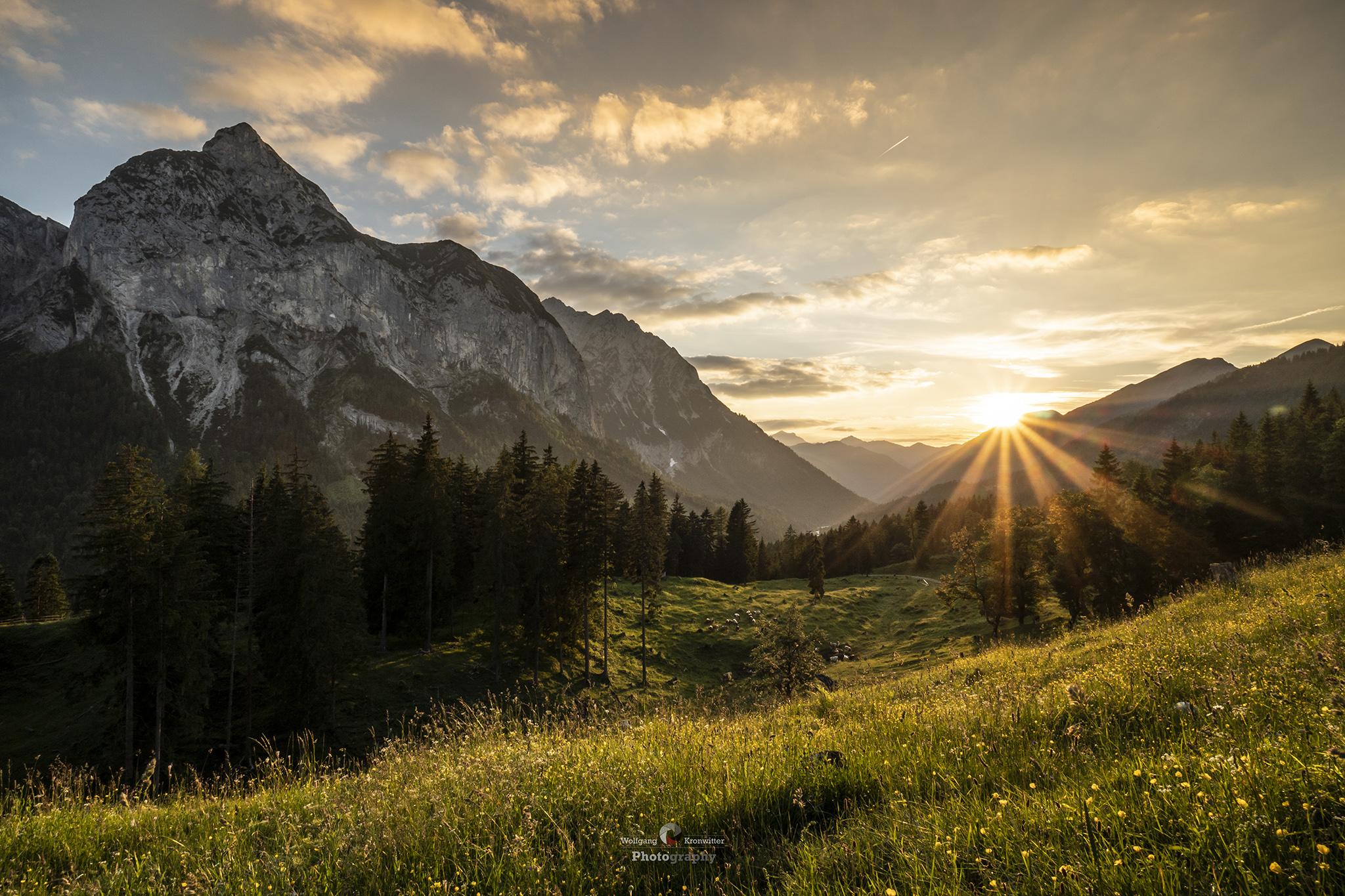 Rissbach Valley in the Karwendel Mountains, Austria